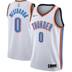 218d5e2af70 OKC Thunder Russell Westbrook White Jersey
