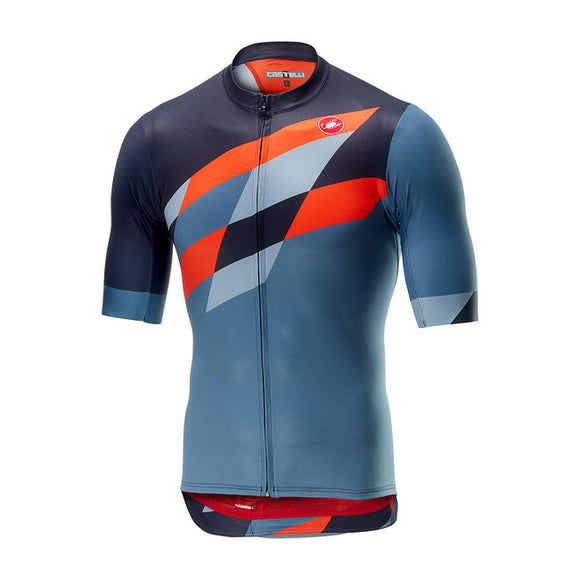 Castelli Men's Tabula Rasa Short Sleeve Jersey (Grey/Orange)