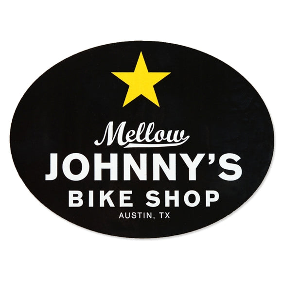 Mellow Johnny's Oval Vinyl Stickers