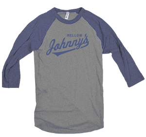 Baseball Johnny Blue Heather Tee