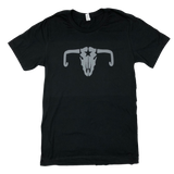 Cow Skull Tee -  Black, Storm and Red Heather