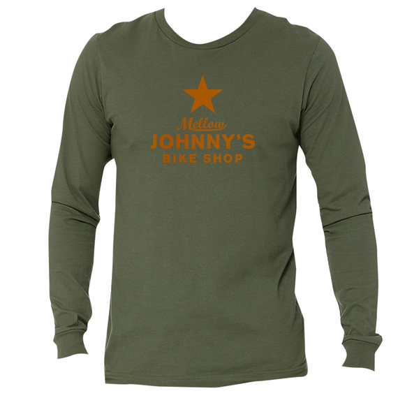 Mellow Johnny's Long Sleeve Tee - Military Green