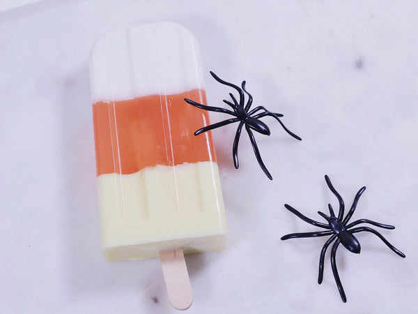 Candy Corn Halloween Popsicle Soap
