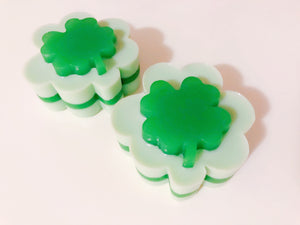 St Patrick's Day Four Leaf Clover Layered Soap
