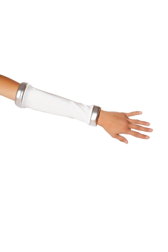 White/Silver Space Commander Gloves