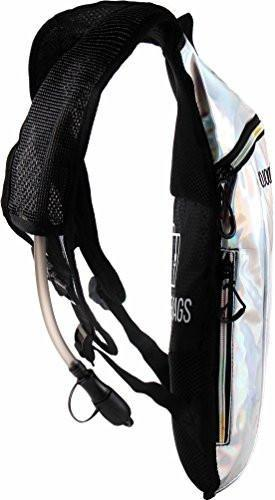 Fanny Pack Hydration Pack Backpack - 2L Water Bladder - Holographic Silver - SoJourner Bags