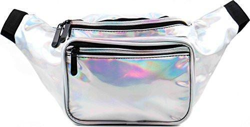Fanny Pack Holographic Silver Fanny Pack - SoJourner Bags
