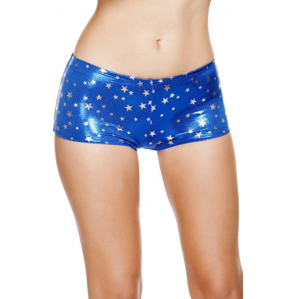 SH226 Silver Stars Boy Shorts - Roma Costume Shorts,New Products,New Arrivals - 1