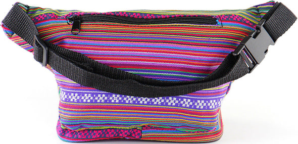 Fanny Pack Woven Boho Pink Fanny Pack - SoJourner Bags