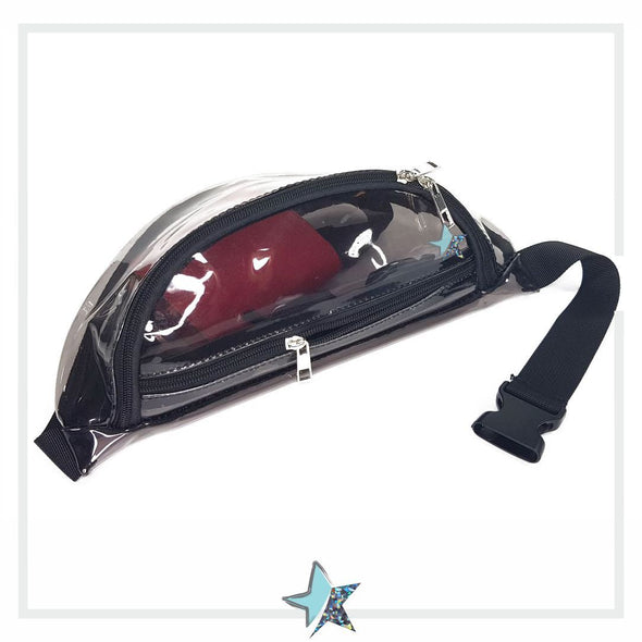 Clear Black Fanny Pack - Starlight
