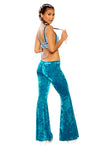 Crushed Velvet Bell-Bottoms