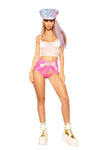 Holographic High-Waist Short
