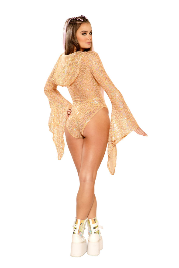 Sequin Hooded Bodysuit