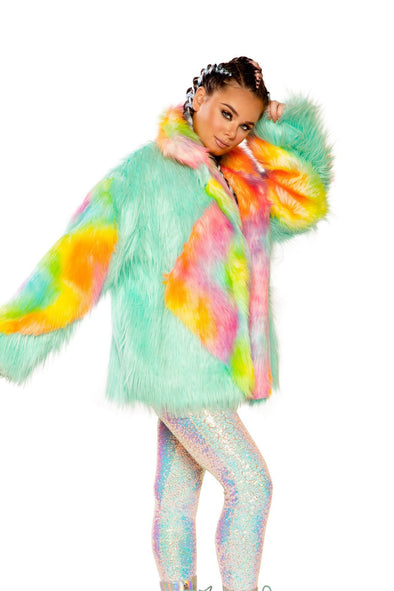 Diamond Faux Fur Coat