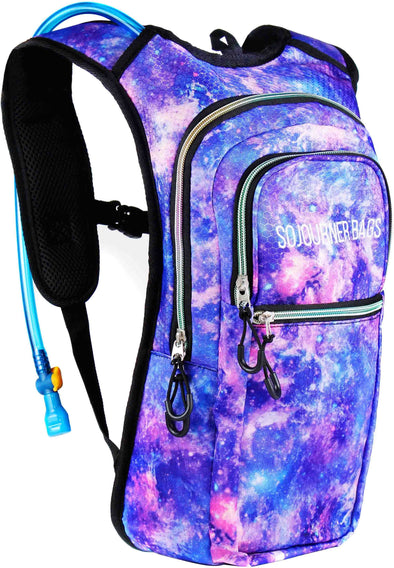 Fanny Pack Medium Hydration Pack Backpack - 2L Water Bladder - Galaxy - SoJourner Bags