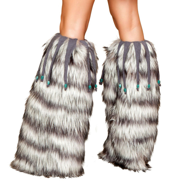 Warmers with Beaded Fringe