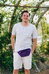 Fanny Pack Solid Color Fanny Pack (Purple) - SoJourner Bags