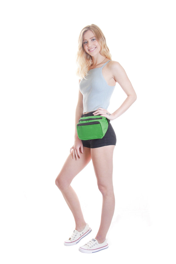 Fanny Pack Solid Color Fanny Pack (Green) - SoJourner Bags