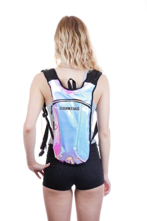Fanny Pack Hydration Pack Backpack - 2L Water Bladder - Iridescent Blue - SoJourner Bags
