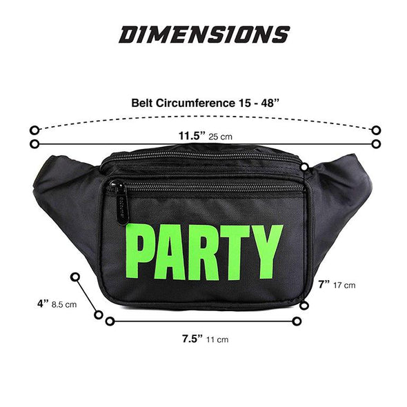 Fanny Pack Black Neon Party Fanny Pack - SoJourner Bags