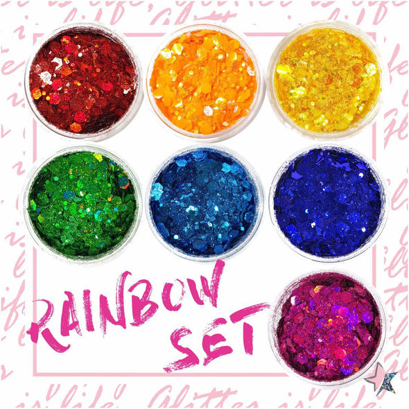 Rainbow Chunky Glitter Set - Starlight