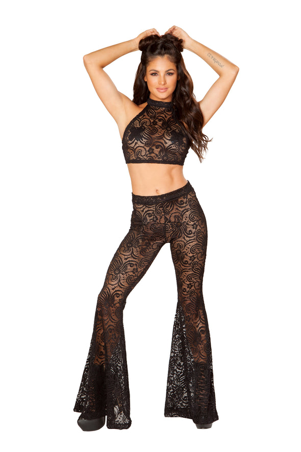 Cyclone Lace Bell Bottom Pant-Bottoms-RaverNation