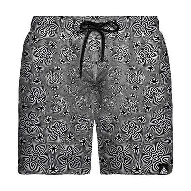 Optical Star Vortex Swim Trunks