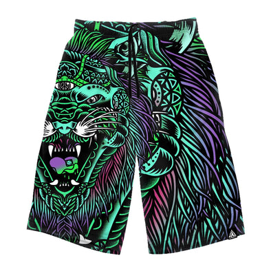 Acid Tiger Long Shorts