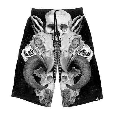 Broken Bones Long Shorts