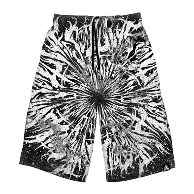 Dark Grime Mandala Long Shorts