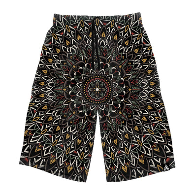 Flower Mandala Long Shorts