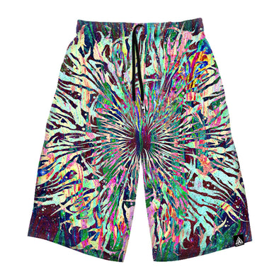Grime Mandala Long Shorts