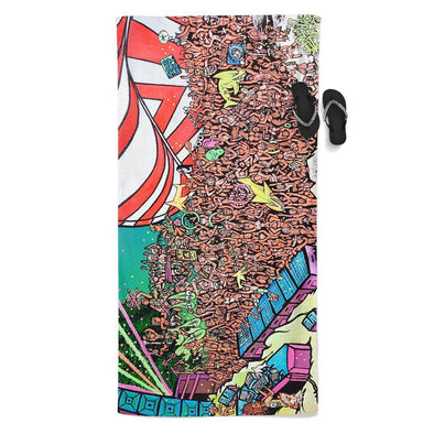 Set 4 Lyfe / Ryan Weisser - AMP BEACH THROW TOWEL - Clothing Brand - Beach Towel - SET4LYFE Apparel