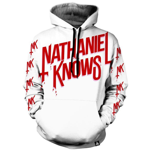 Set 4 Lyfe / Nathaniel Knows - NK ALL DAY WHITE HOODIE - Clothing Brand - Pullover Hoodie - SET4LYFE Apparel