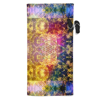 Set 4 Lyfe / DAQUALIA - PINEAL METATRON BEACH THROW TOWEL - Clothing Brand - Beach Towel - SET4LYFE Apparel