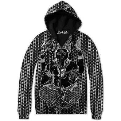 Set 4 Lyfe / Rooz Kashani - SACRED GANESHA ZIP UP HOODIE - Clothing Brand - Zip Up Hoodie - SET4LYFE Apparel