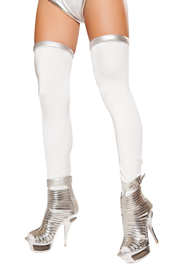 White/Silver Space Commander Leggings