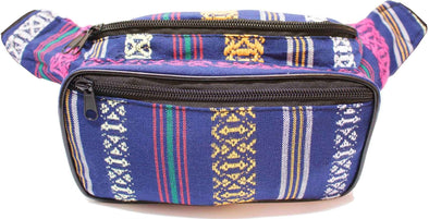Fanny Pack Woven Boho Navy Fanny Pack - SoJourner Bags