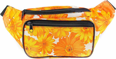 Fanny Pack Floral Sunflower Fanny Pack (Yellow / Orange) - SoJourner Bags