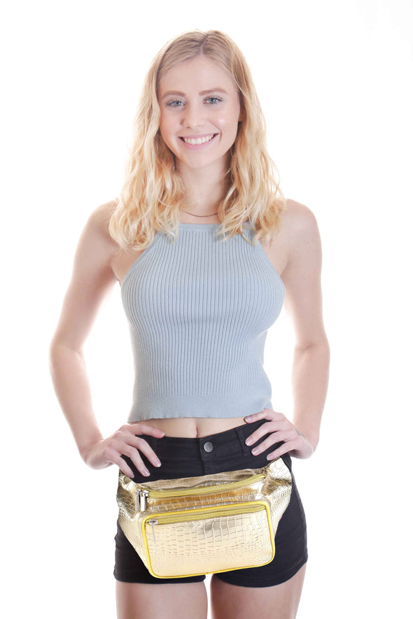 Fanny Pack Gold Fanny Pack - SoJourner Bags