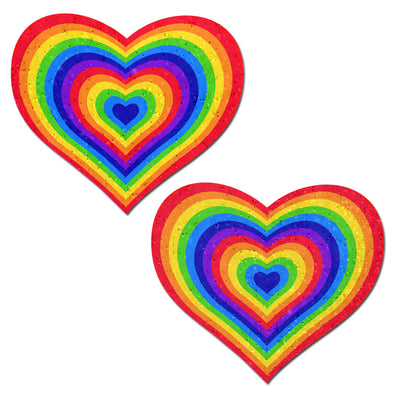 Rainbow Heart Pastease-Pasties-RaverNation