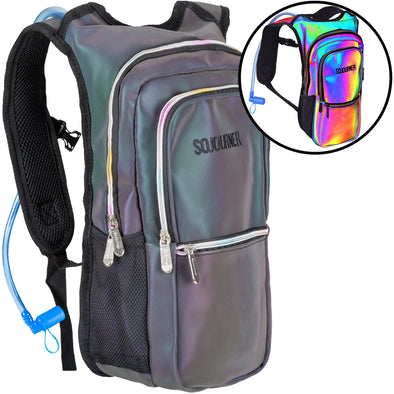 Fanny Pack Medium Hydration Pack Backpack - 2L Water Bladder - Luminous - Green - SoJourner Bags