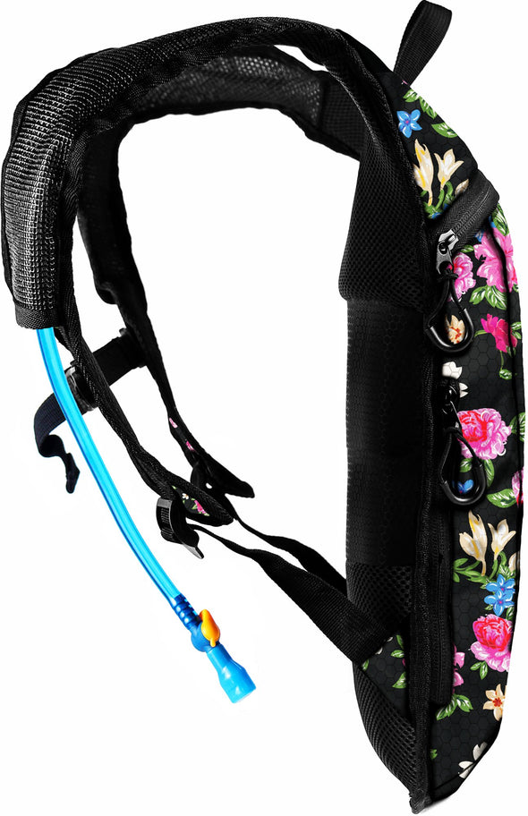 Fanny Pack Hydration Pack Backpack - 2L Water Bladder - Floral Traditional - SoJourner Bags