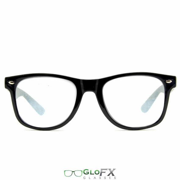GloFX Spiral Diffraction Glasses- Black - ravernationshop