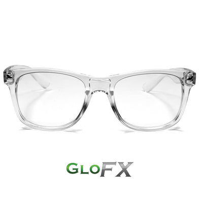 GloFX Ultimate Diffraction Glasses- Clear - ravernationshop