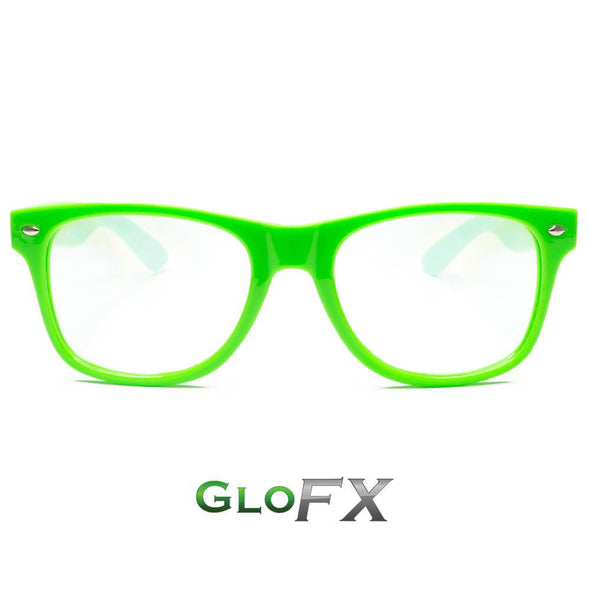 GloFX Ultimate Diffraction Rave Glasses- Green - ravernationshop