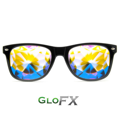 GloFX Ultimate Kaleidoscope Glasses- Black - ravernationshop