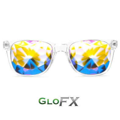 GloFX Ultimate Kaleidoscope Glasses- Clear - ravernationshop