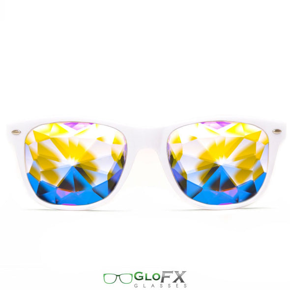 GloFX Ultimate Kaleidoscope Glasses- White - ravernationshop