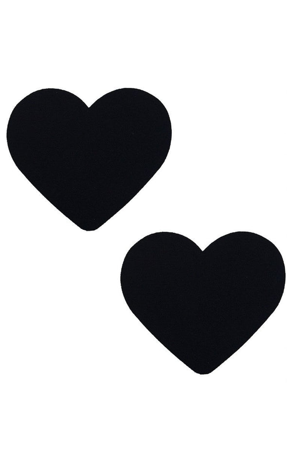 Heart Pasties in Black - ravernationshop